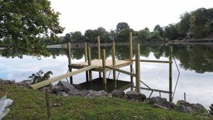 New deck/pier going in